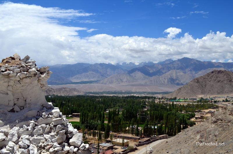 Enroute shanti stupa