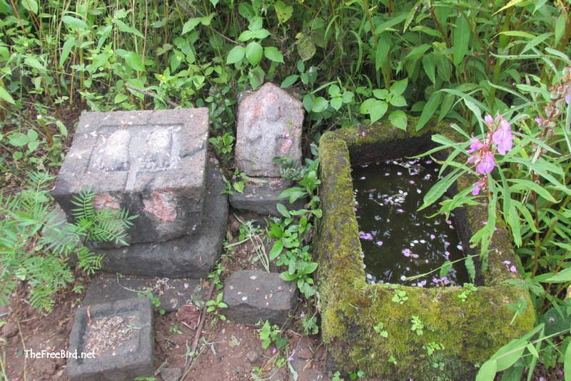 Artefacts outside pandjai temple