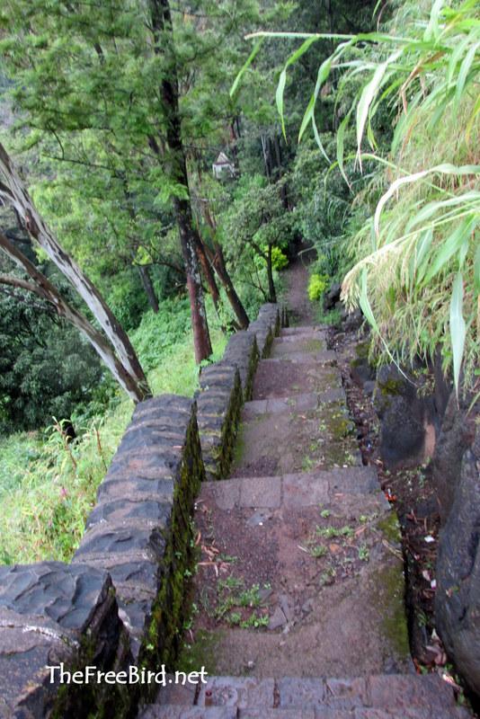 Stairs at Rajapuri Caves