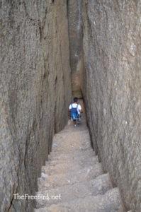 Bhandardurg trek rock cut stairs