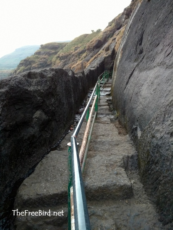 Brahmagiri trek Rock cut route