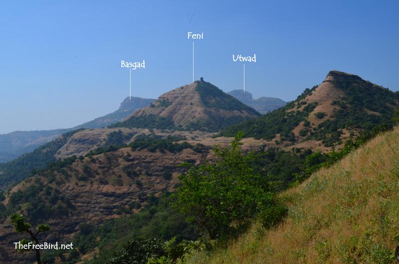 Basgad, Utwad & Feni Hill from Harihar fort