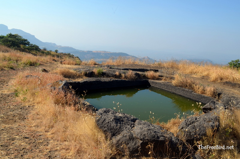 Water cisterns @ Harihar fort trek
