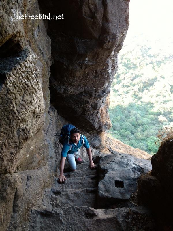 Stairs @ Harihar fort trek