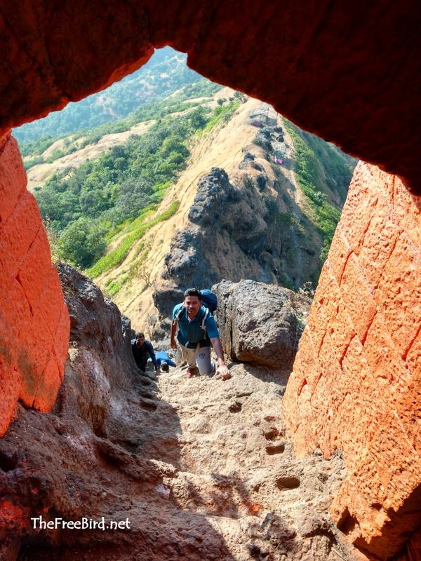 The beautiful stairs at Harihar fort trek