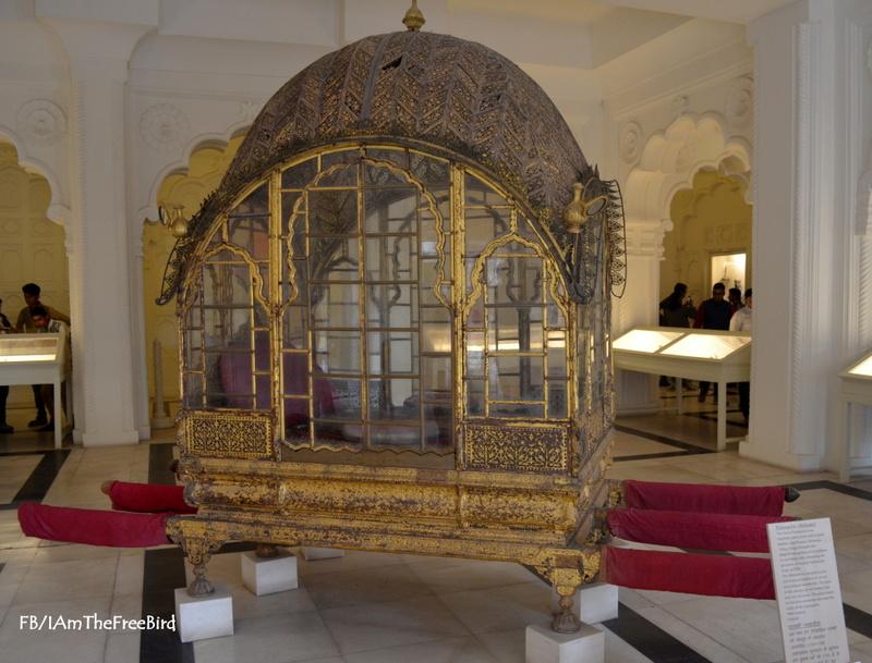 Gilted palanquin,Mehrangadh Fort Jodhpur Rajasthan The Free BIrd