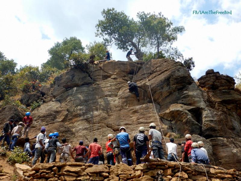 Rock climbing at nimas dirang bmc