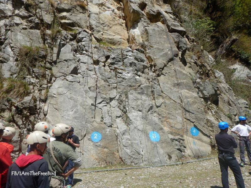 Rock Climbing at New Melling NIMAS BMC