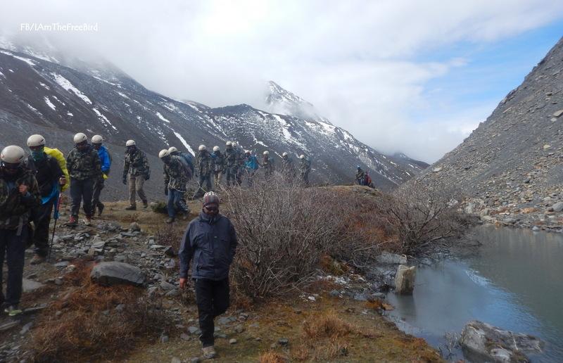 Gorichen NIMAS BAsic Mountaineering course BMC AMC Meerathang glacier