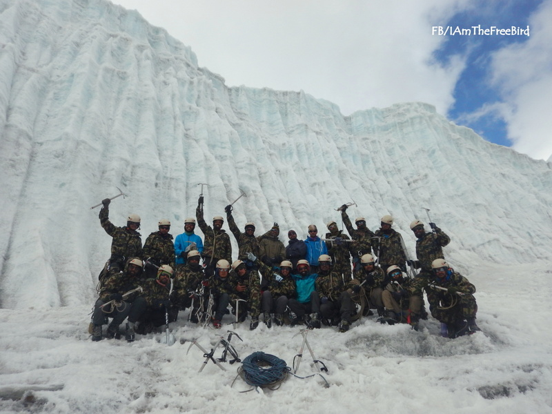 NIMAS BAsic Mountaineering course BMC AMC Meerathang ice craft Batch