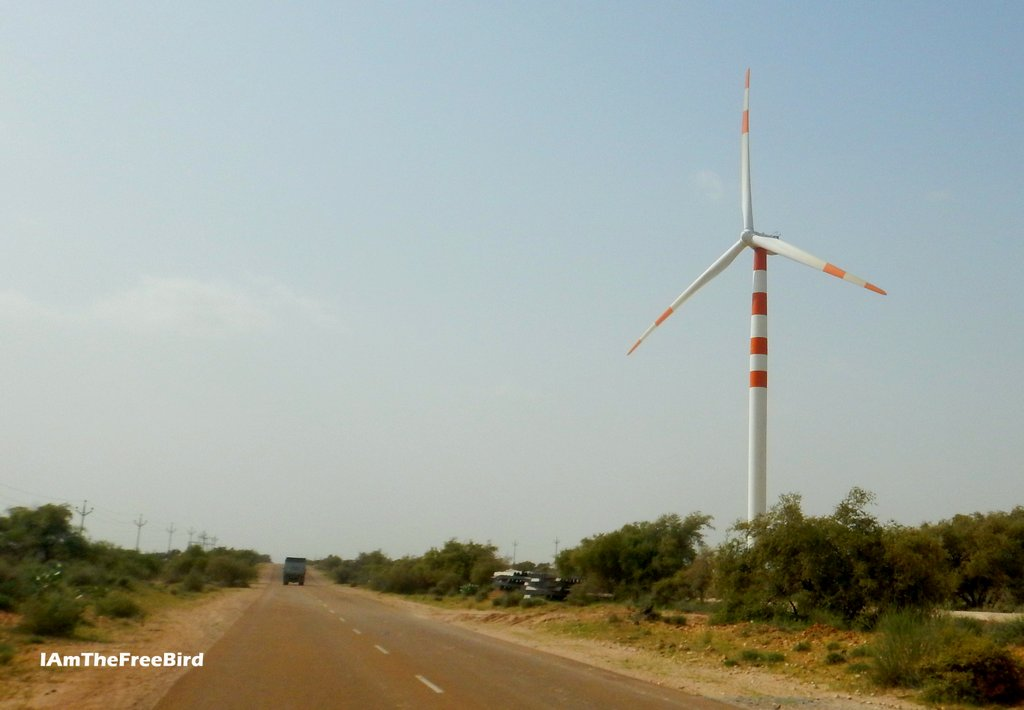 jaisalmer tanot road wind mill