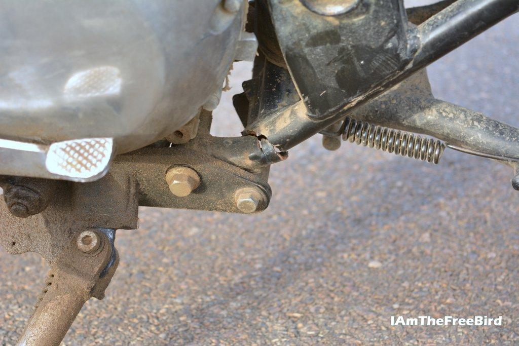 Broken Chasis Shiva bikes Jaisalmer