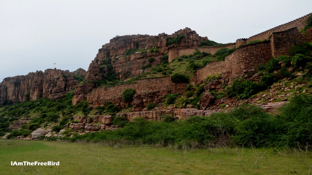 Gandikota fort from the Pennar river bed